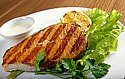 Crispy Salmon or Chicken with Herb Salad