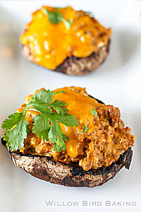 Taco Stuffed Portobello Mushrooms