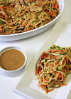 Garlic Ginger Zoodle Salad (Zucchini Noodle)